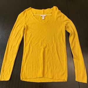 Banana Republic Yellow Knit Blouse